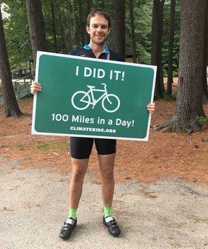 """Participating in Climate Ride made me feel like I'm part of something bigger,"" says our Director of Field Programs, Elliott Powell."