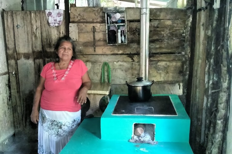 Almost every one of the 2,500 wood-conserving stoves we've built has been white. Not Josefa's; her stove is a brilliant turquoise.
