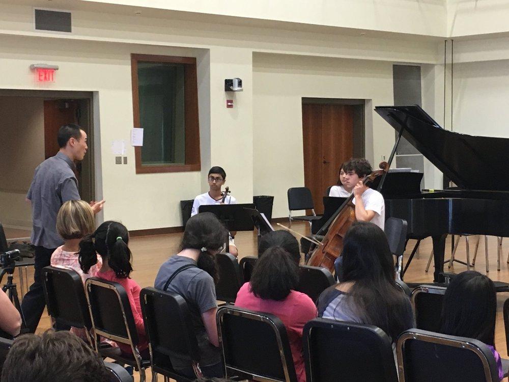 Master class with Joseph Lin, Juilliard Quartet.