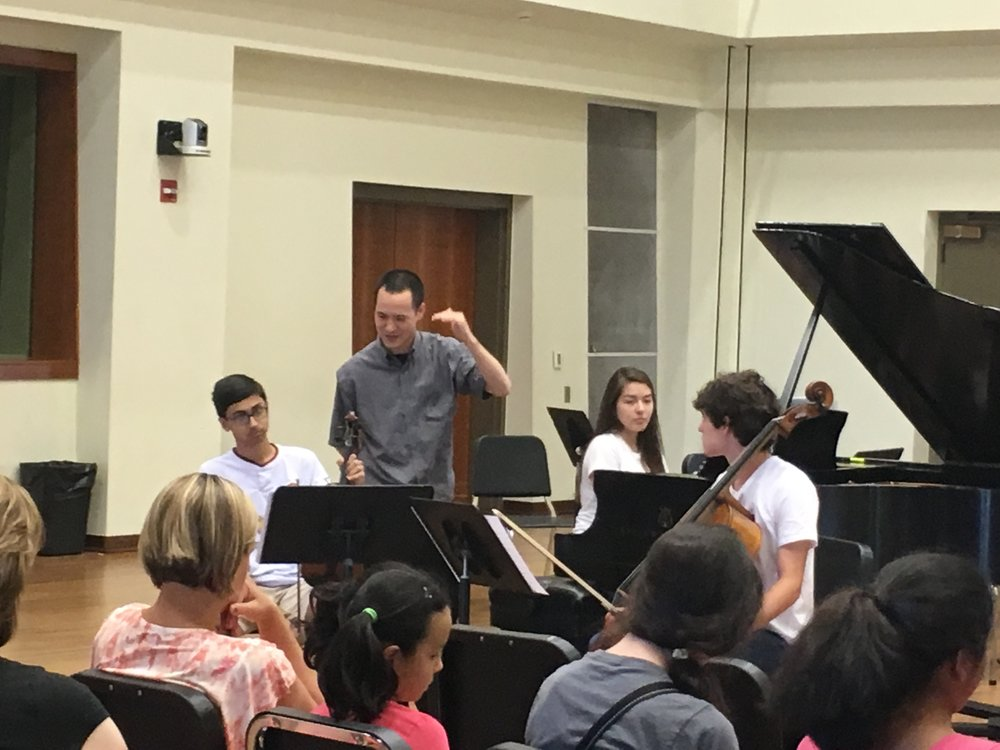 Master class with Joseph Lin, first violinist of Juilliard String Quartet