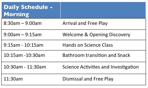 ISL - Preschool Schedule (Morning)