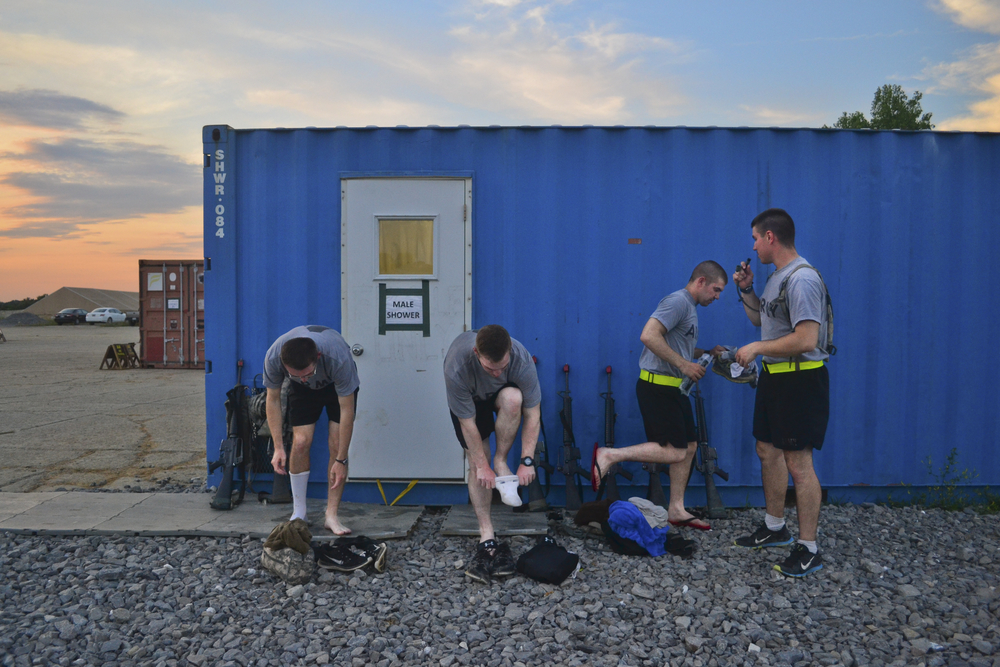 June 25 Cadets were sometimes allowed to shower during their free time, but their only option was make-shift showers constructed inside of shipping containers.