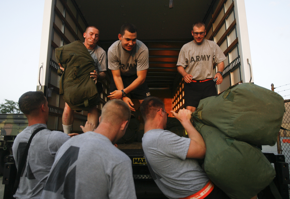 July 22 Cadets load their belongings before heading off to their final tent city. These cadets were near the end of their LDAC experience and among the last cadets to ever participate in the LDAC program.