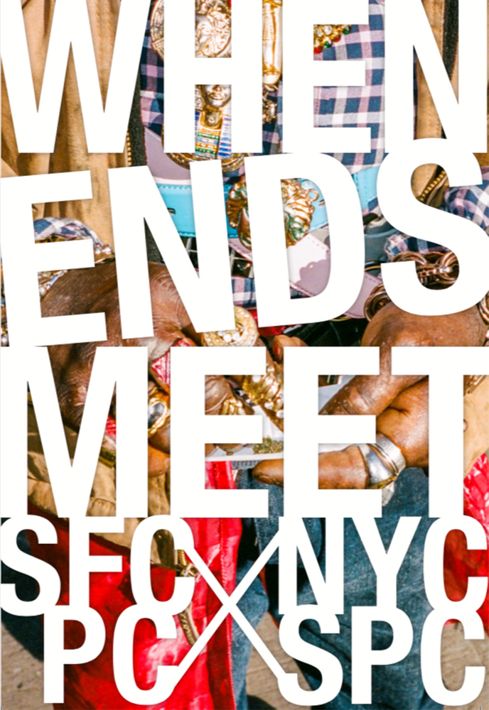 "When Ends Meet  Featuring photographs by members of SFCPC & NYCPC  44 Pages + Cover  5.5"" x 8""  Full Color + BW images  Edition of 300  Designed by Ben Molina"
