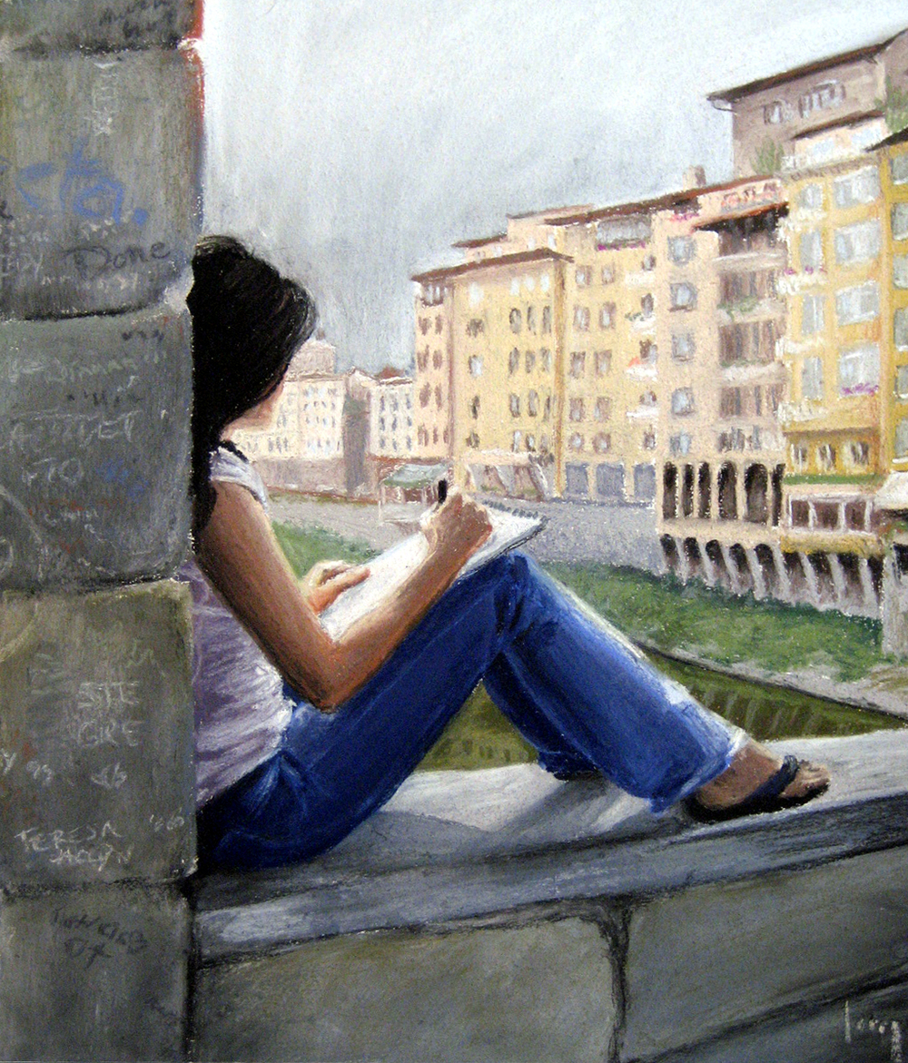 On the Ponte Vecchio, 2007