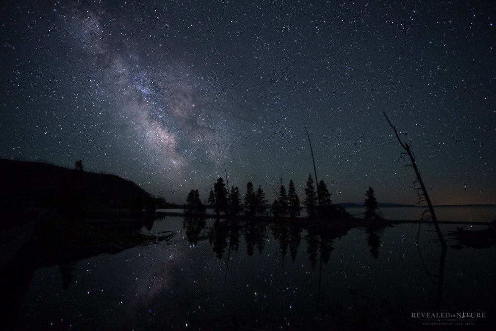 Milky Way over Yellowstone Lake