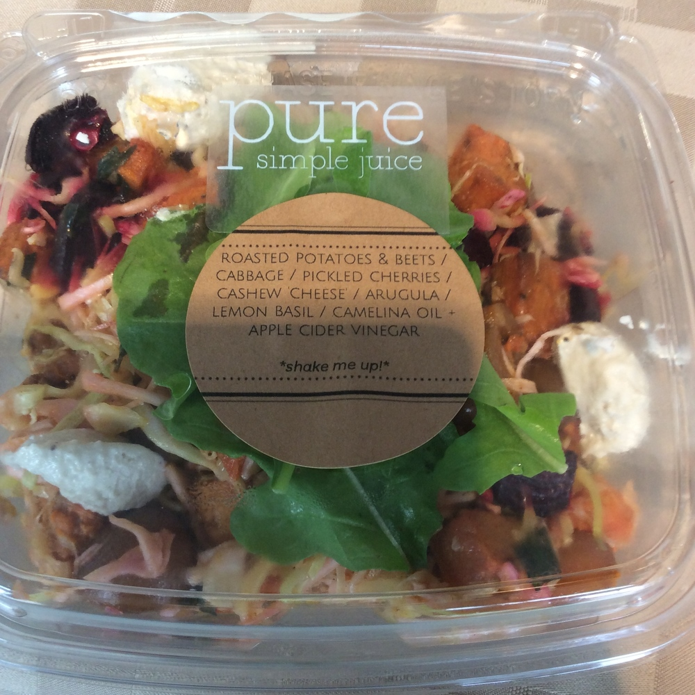 Delicious organic salad from Pure Simple Juice