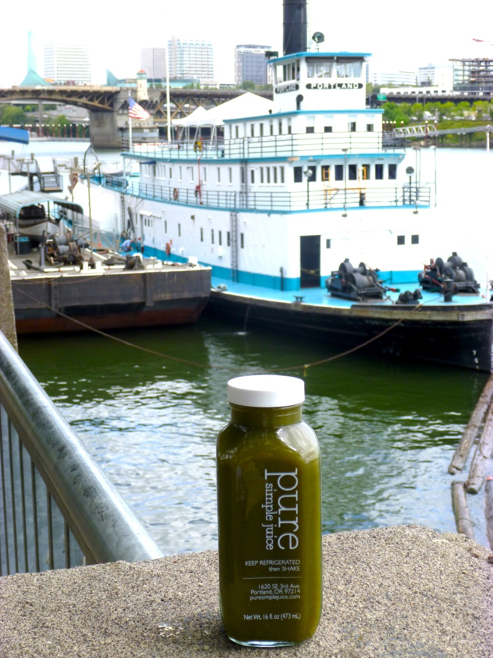 Cooling Greens juice from Pure Simple Juice in Portland