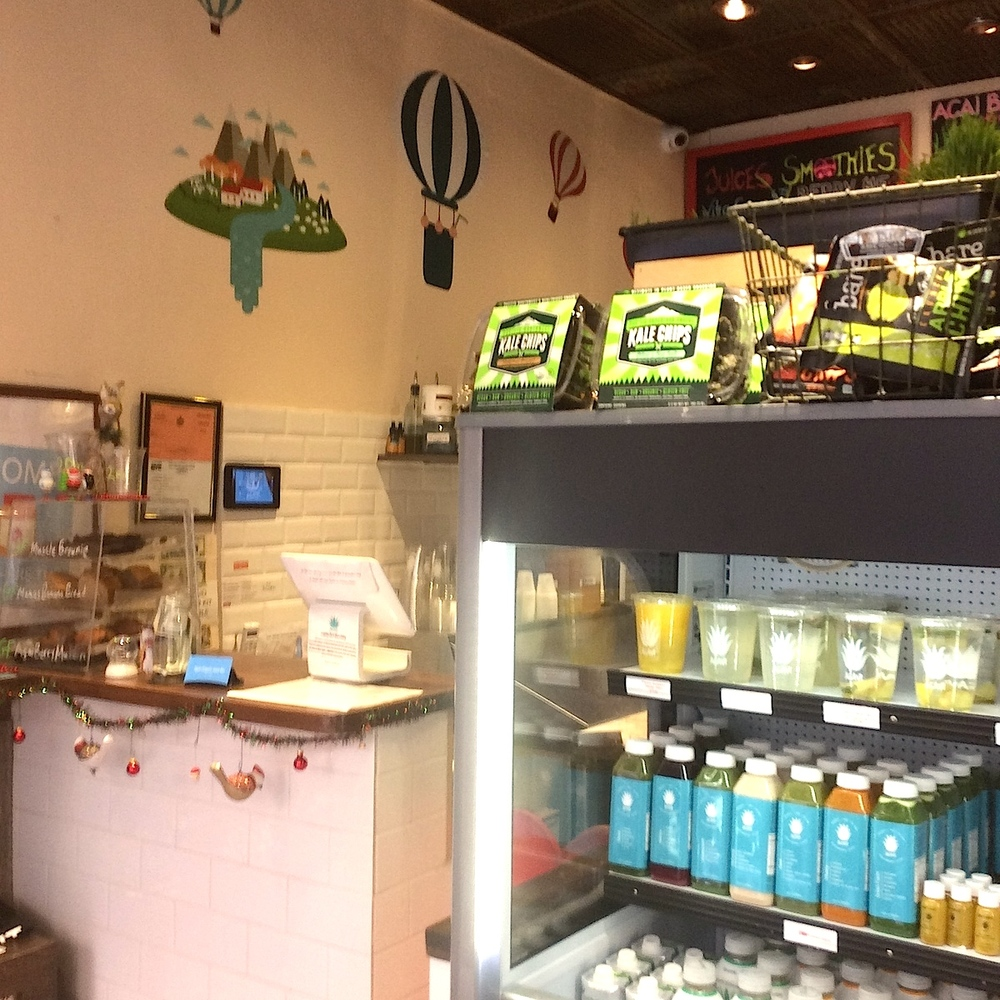 Lots of options at Agavi Organic Juicebar