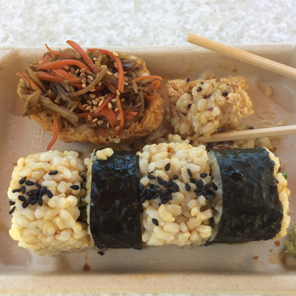Macrobiotic plant-based sushi rolls