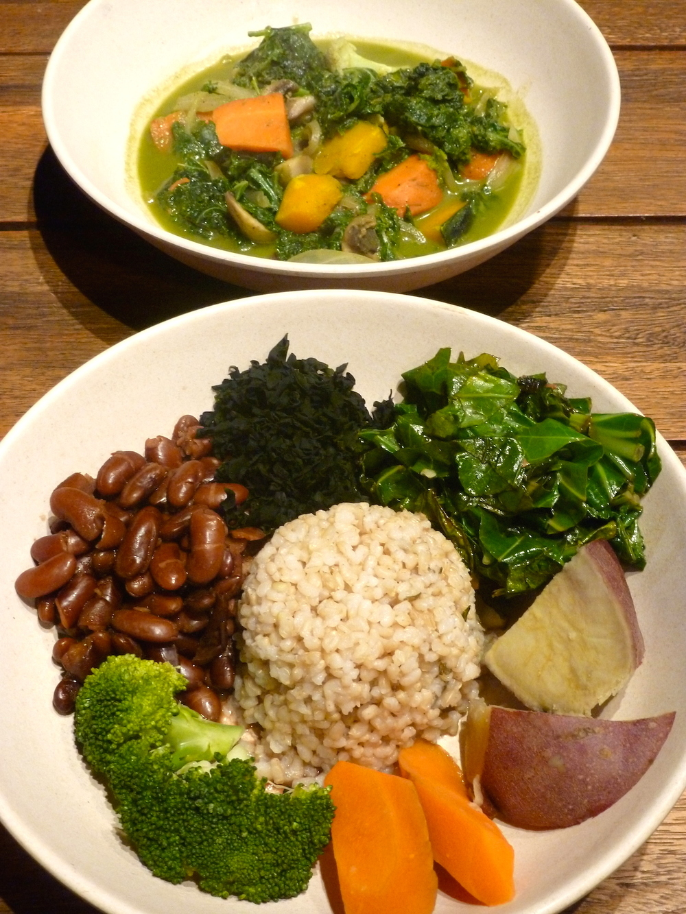 Macro Bowl and Green Curry Bowl