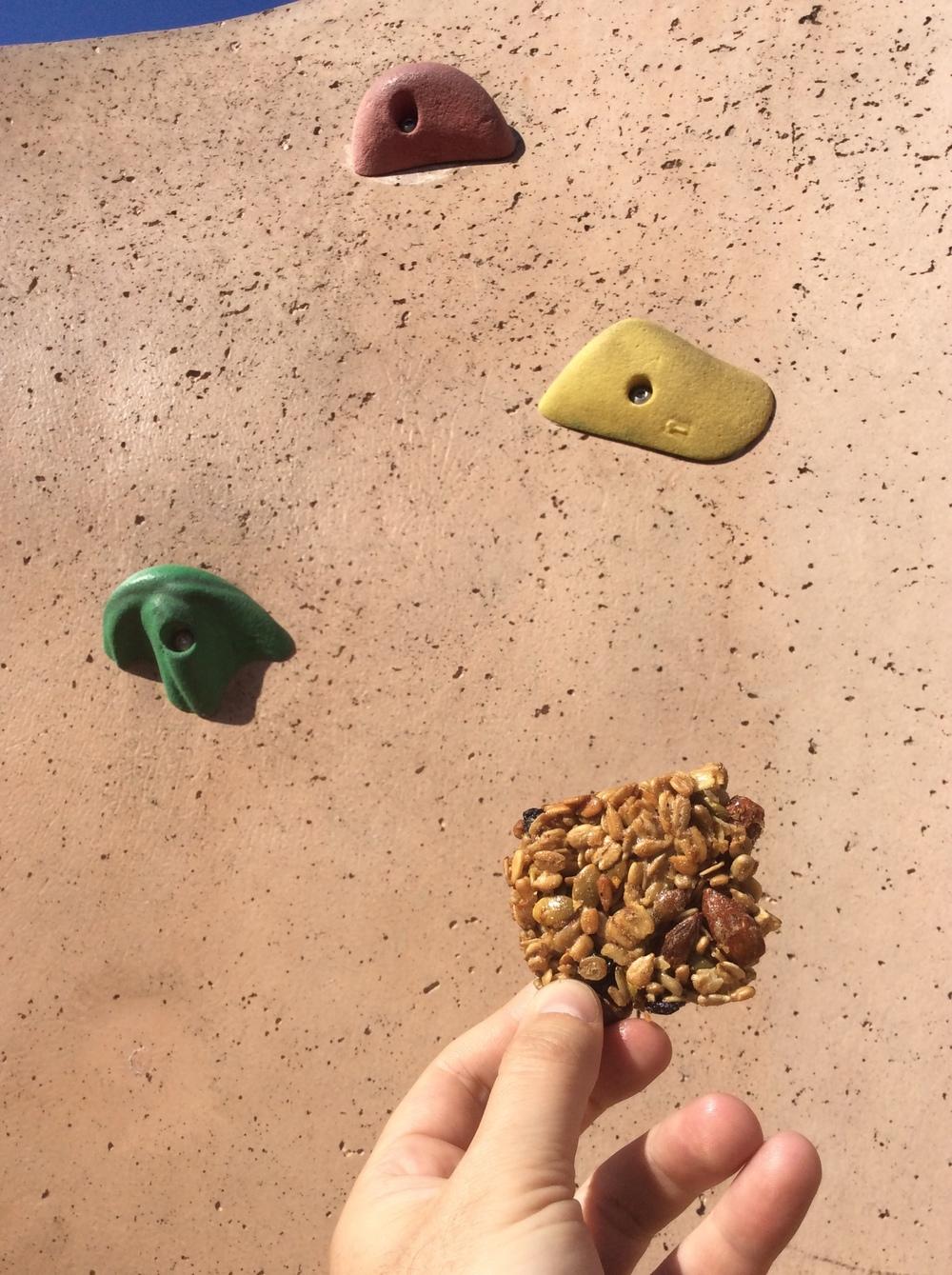 Hi-FiBar Lemon Zest Blueberry Snack Bar (seasonal) - perfect power for climbing the wall
