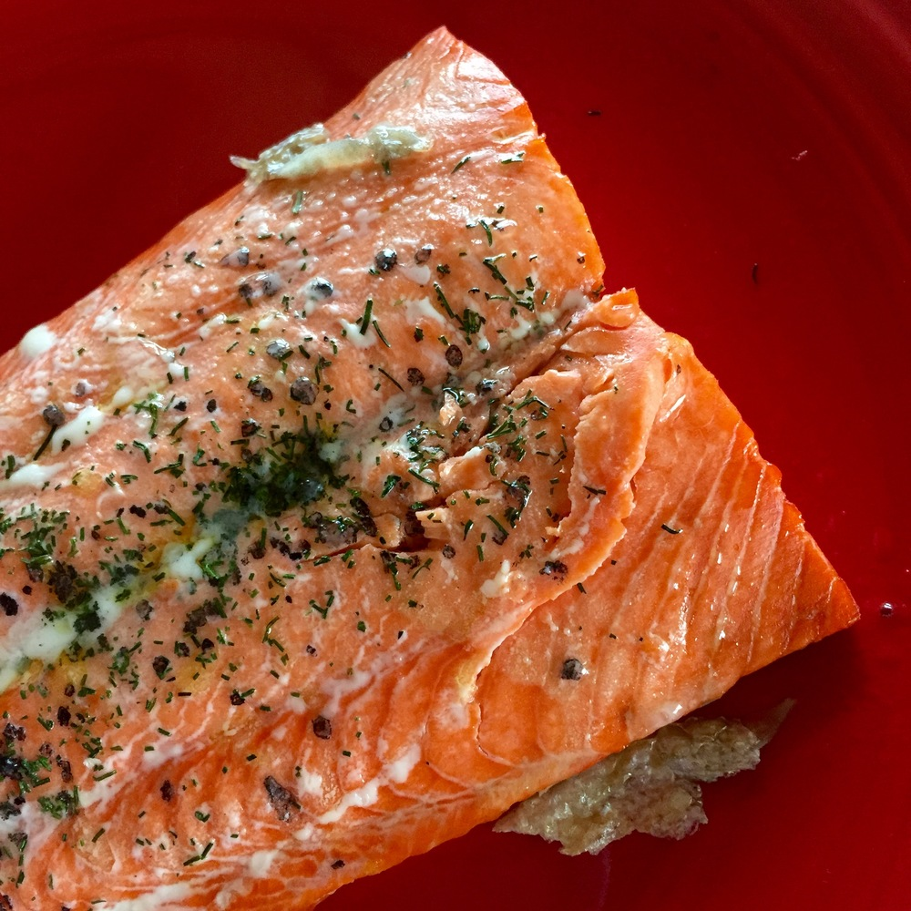 Delicious on salmon made with a touch of olive oil.