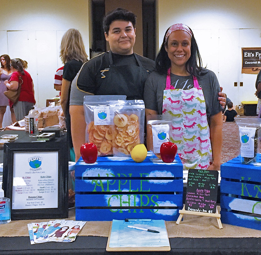 Fluffy Vegan founder, Kimberly and son sharing the goodness!