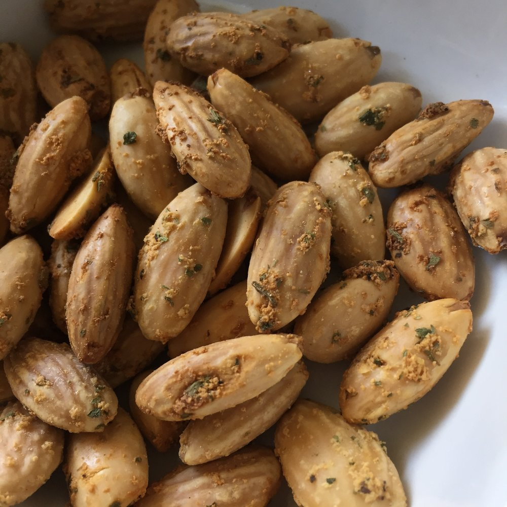 Garlic and Herb Almonds at Fat Uncle Farms