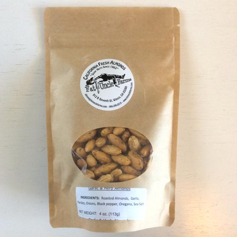 Fat Uncle Farms garlic & herb almonds 4 oz bag