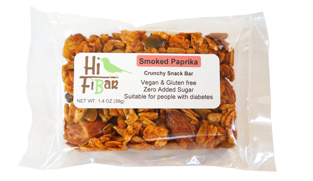 Hi-FiBar no sugar added Smoked Paprika granola snack bar on  Treatmo
