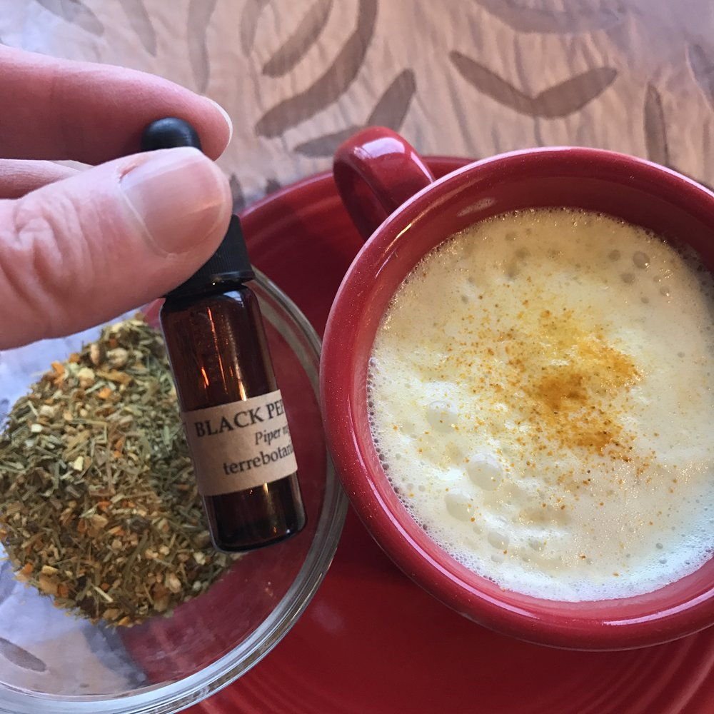 Get a little more from your turmeric with black pepper to help your body absorb the roots healing properties. Explore shops like Terre Botanicals in the Treatmo Marketplace to shop culinary oils like black pepper and turmeric.