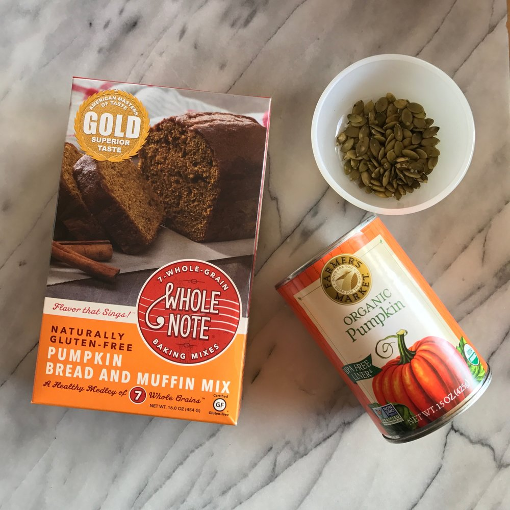 Pumpkin seeds for the top of your bread after it's baked from b Naked Chocolates.