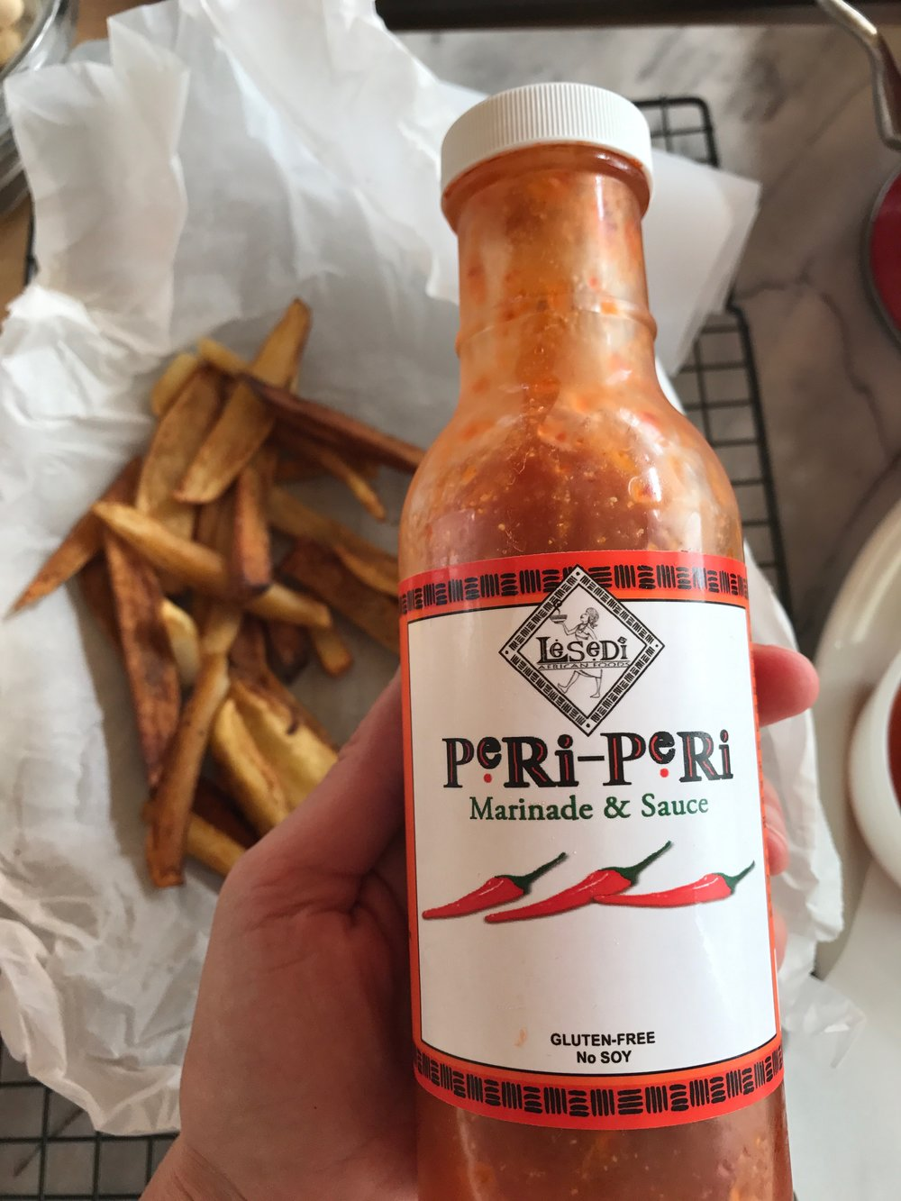 Shop Peri Peri Sauce on Treatmo - Authentic, organic and delicious. Get Treatmo app for Lesedi Farm on tap.
