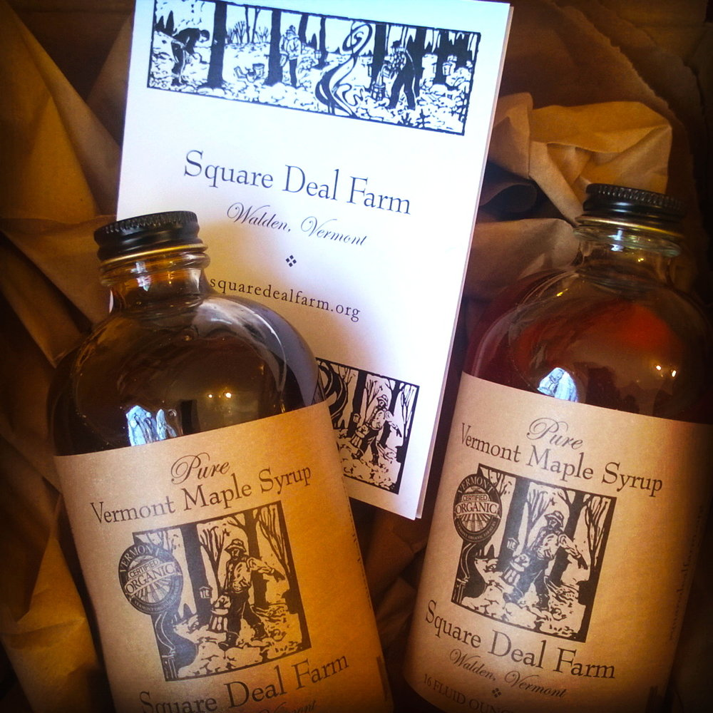 Square Deal Farm maple syrup pints