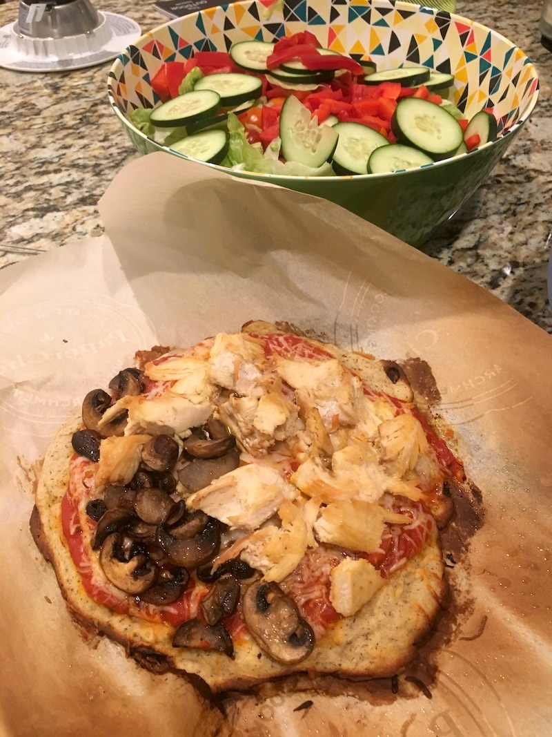 Whole Note gluten free pizza crust.
