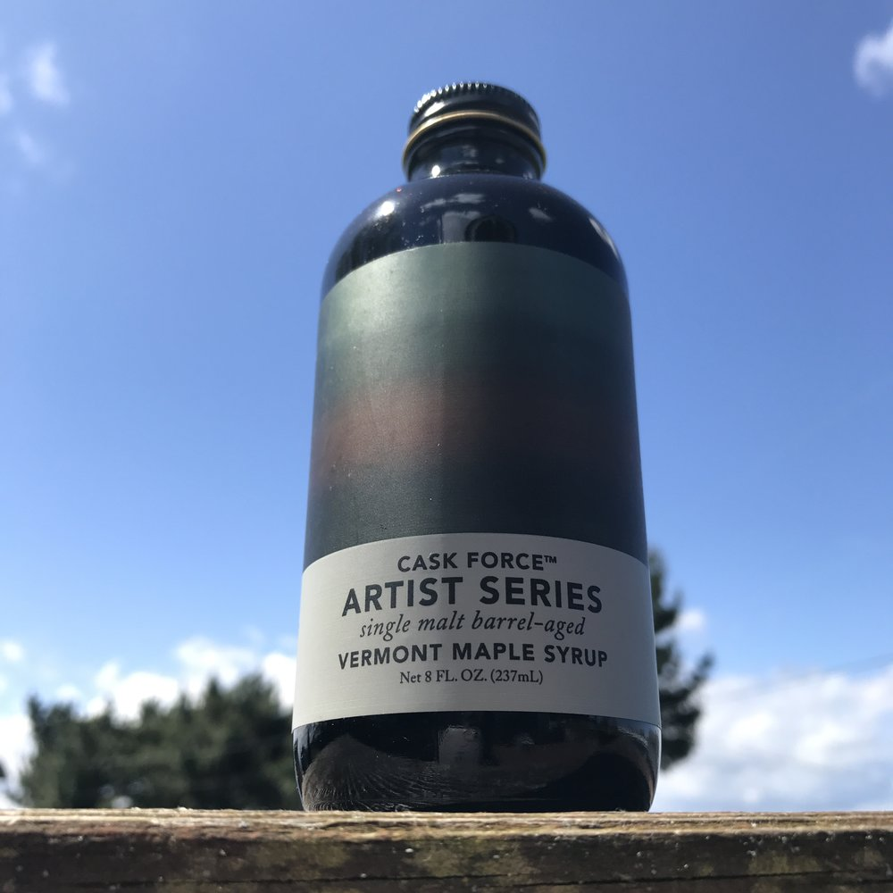 Maple Syrup - But not just any kind. Special edition Cask Force™ Purinton Maple Syrup from Vermont.