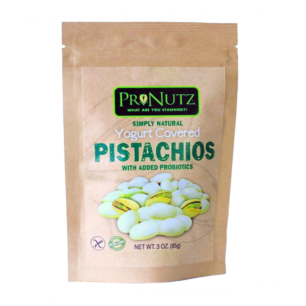 Pronutz yogurt covered pistachios - available from their Treatmo iOS store.