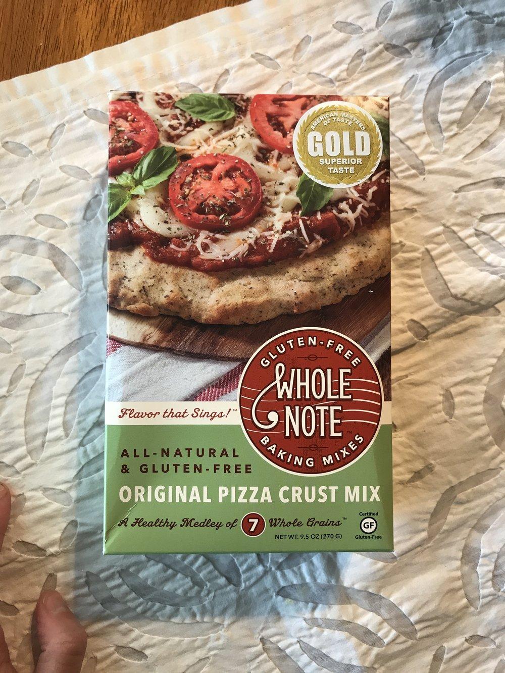 Whole Grain Gluten Free Pizza Crust
