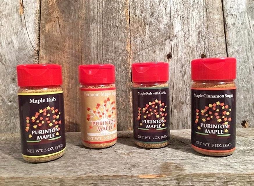 Maple Rub, Maple Rub with Garlic, Maple Cinnamon Sugar, Maple Sugar