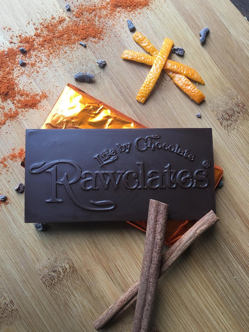 Firecracker Chocolate Bar by Rawclates