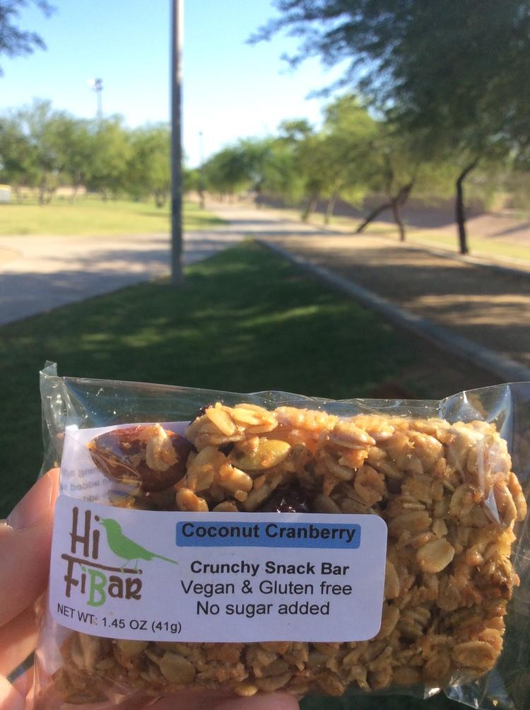 Coconut Cranberry Snack Bar by Hi-FiBar