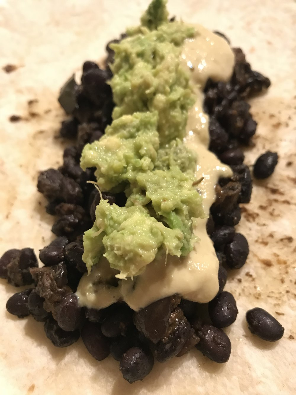 Black bean burrito - clean and healthy.