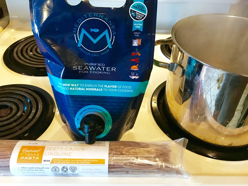 My go to seasoning for broth and water, Mediterranean Seawater. Add a 1/4 to water for pasta.