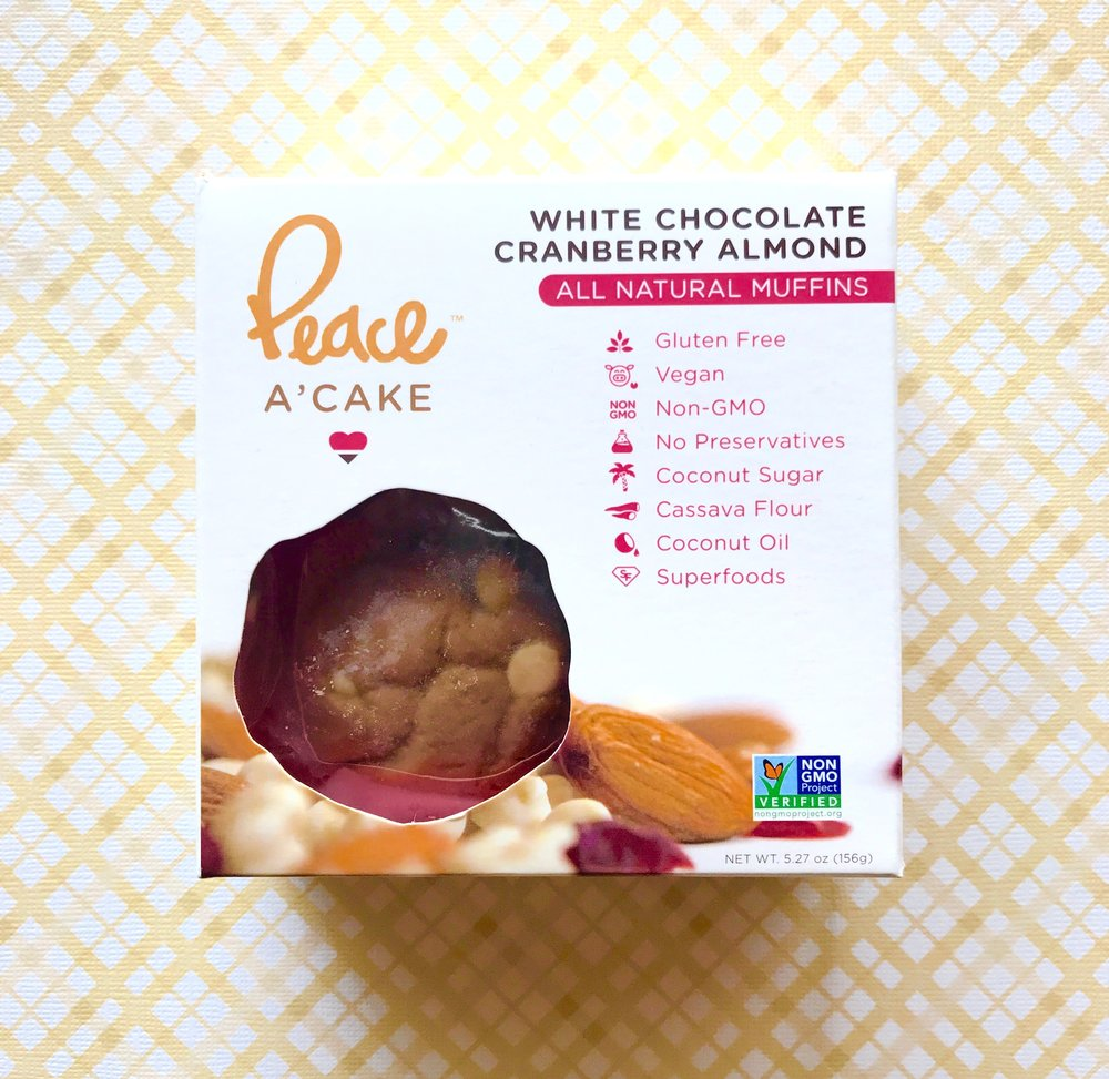Clean and ingredient simplified natural muffins (protein options available) from Peace A' Cake