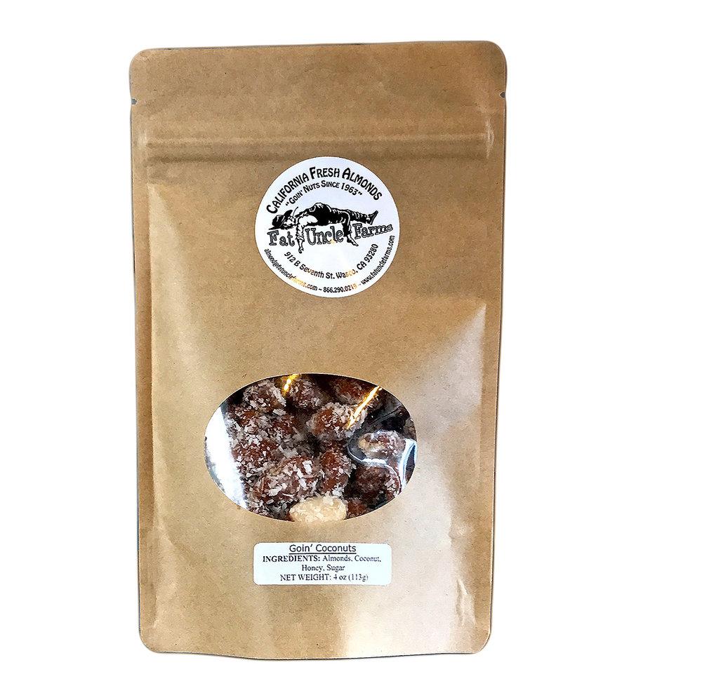 California grown, organic raw almonds, Fat Uncle Farms.