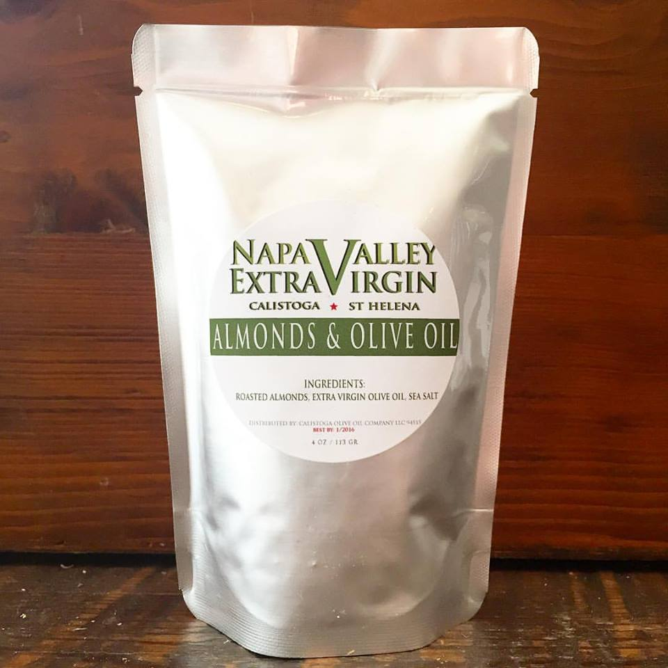 Tasty snack with healthy fats from Napa Valley olive oil.