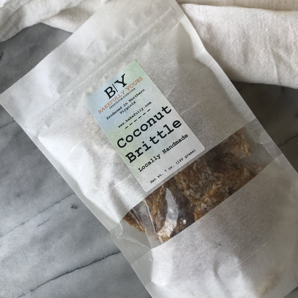 Bakefully Yours Coconut Brittle