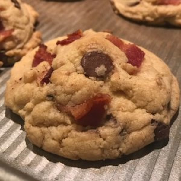 Bacon Chocolate Chunk Cookies by CurlyTop Baker in Las Vegas.