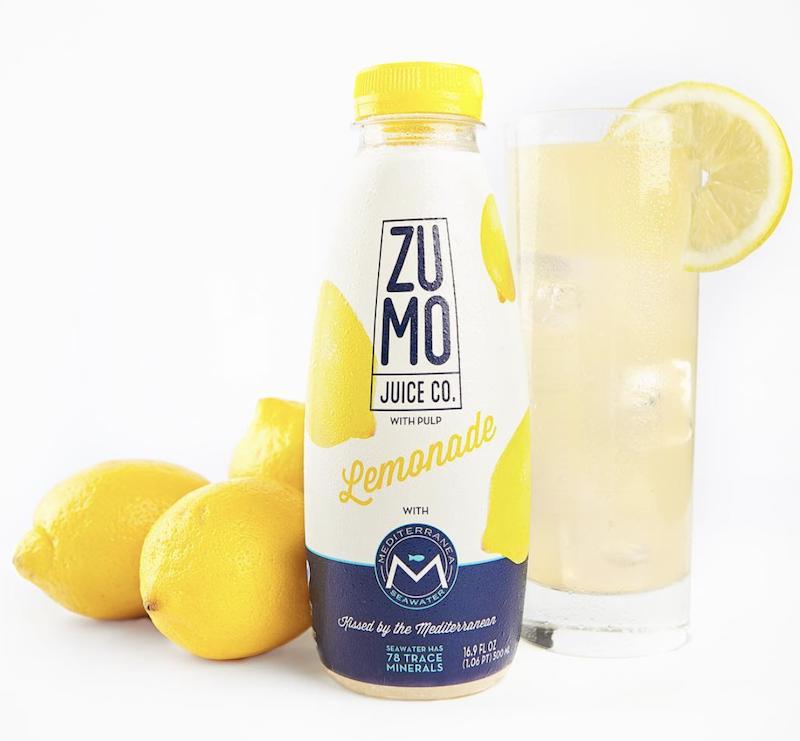Zumo Lemonade Made with Mediterranean Seawter