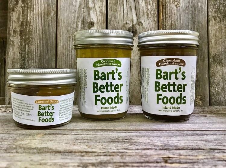 Bart's Better Foods - Hazelnut Sauces and Vegan Caramel Sauce