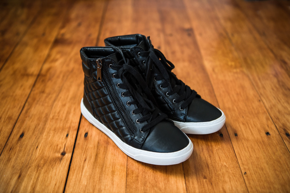 Personal Style | High-Top Black Sneakers | Lorna Stell | Photographer | Boston MA