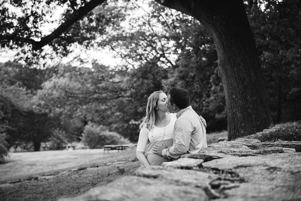 Nick + Kristen | Woodsy Belmont Summer Maternity Session | Boston and New England Portrait Photography | Lorna Stell Photo