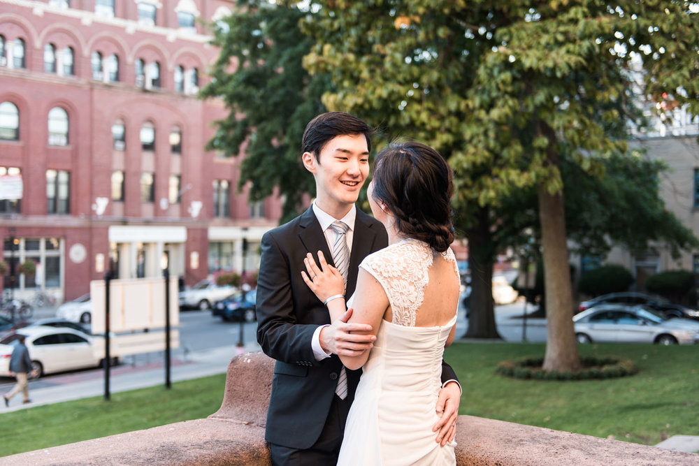 Yunsoo + Won | Intimate Cambridge City Hall Autumn Wedding | Boston and New England Wedding Photography | Lorna Stell Photo