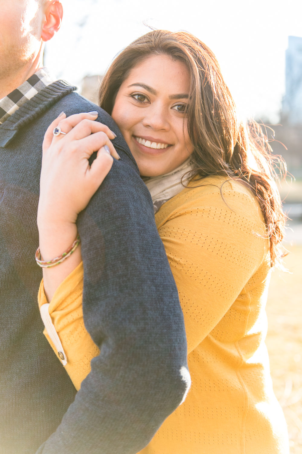 Andrea + Scott | Dog Lovers Boston Spring Sunrise Engagement Session | Boston and New England Engagement Photography | Lorna Stell Photo