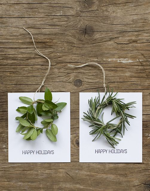 (Simple gift tags or place cards.)