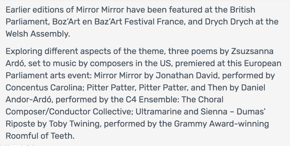 16 BELG European Parliament Mirror Mirror premiers poems by Z Ardo music by J David D Andor-Ardo T Twining.png
