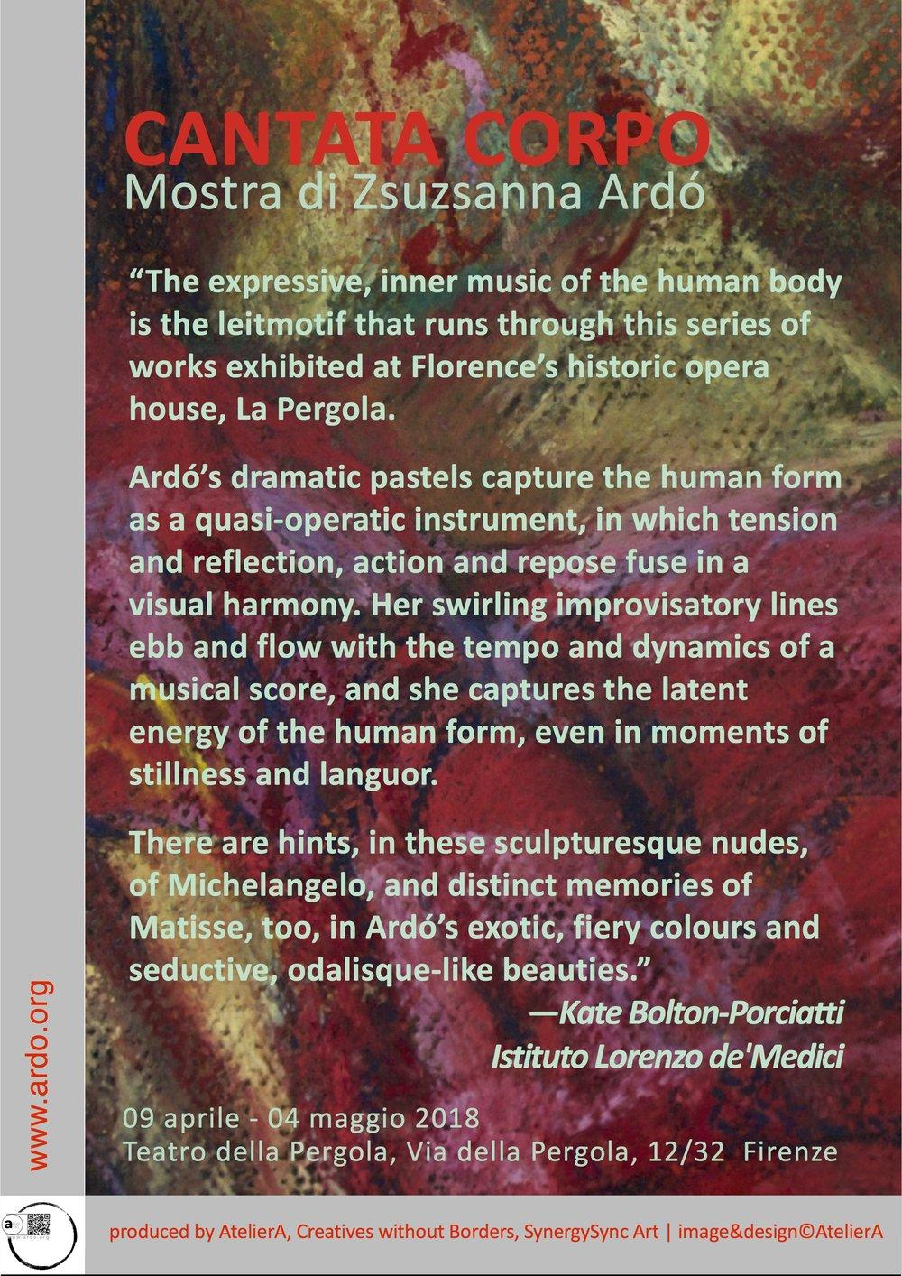 About Cantata Corpo Exhibition by Zsuzsanna Ardó