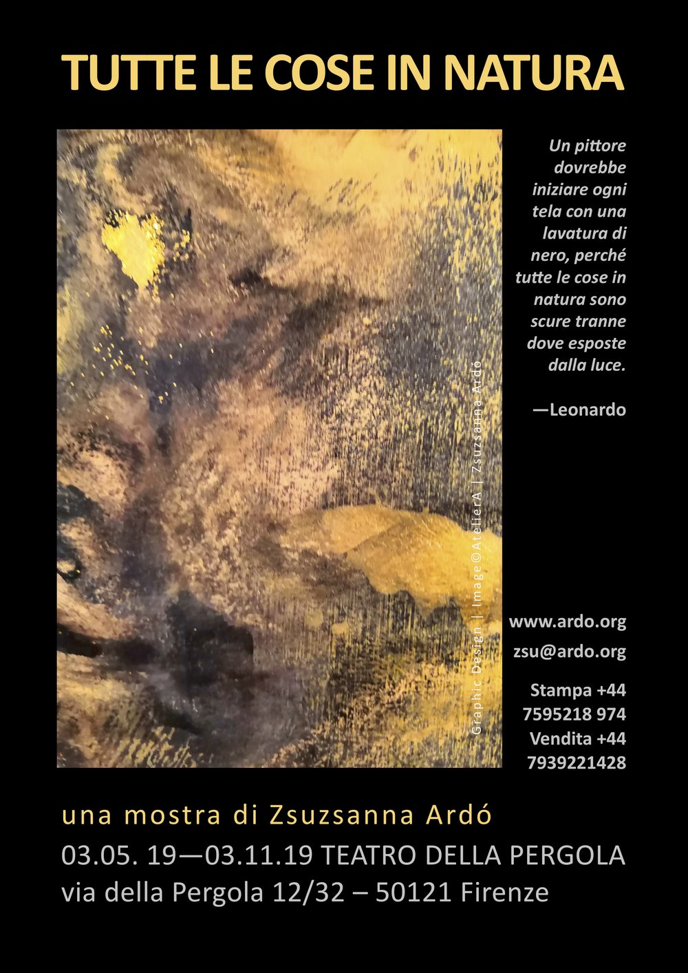 19 ALL THINGS IN NATURE Florence exhibition by Ardo POSTER Italian.jpg