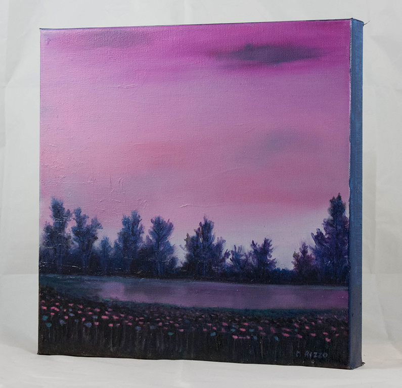 Pink Sky, Purple Trees